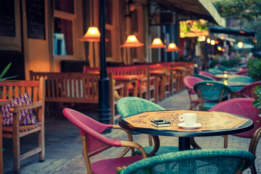 outside seating area at restaurant